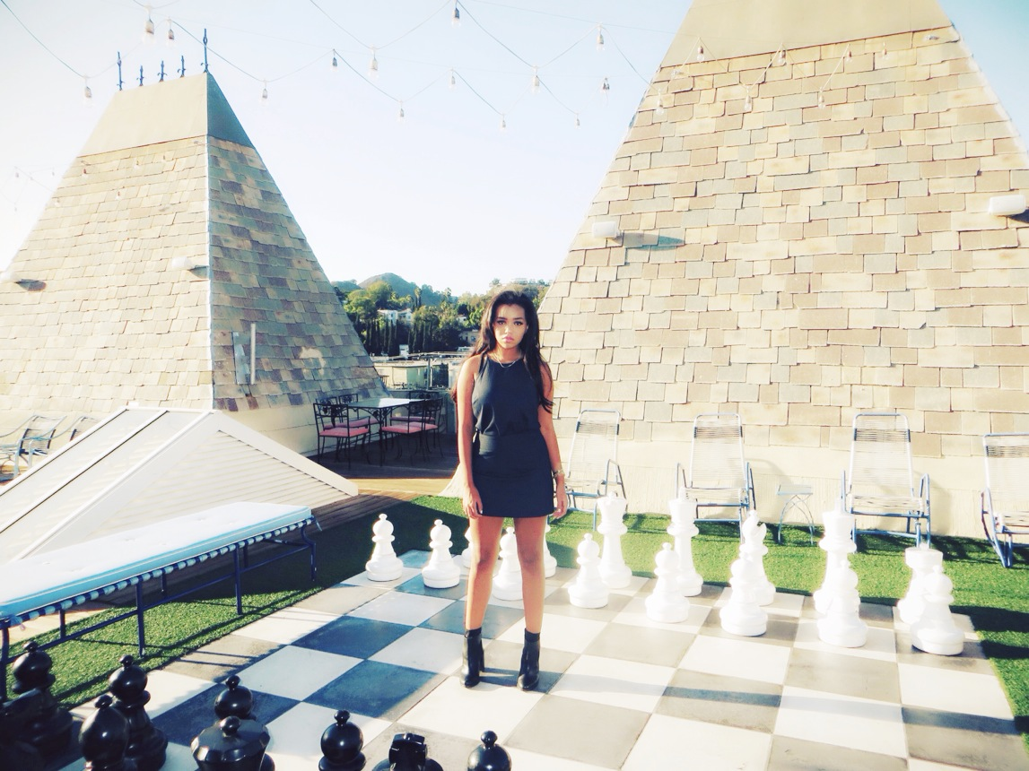 hollywood tower roof top chess