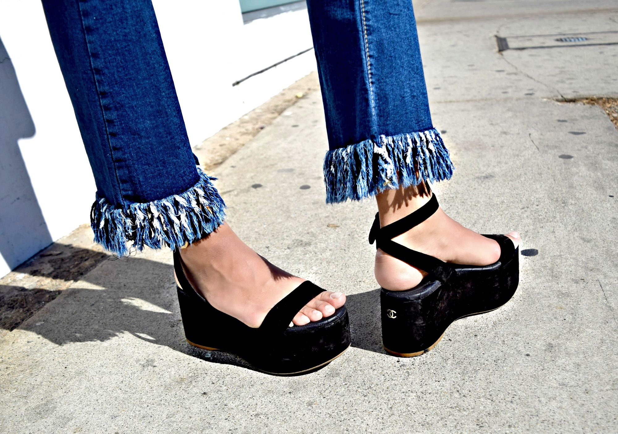Fringe Jeans/Chanel Flatforms: To Style, With Love