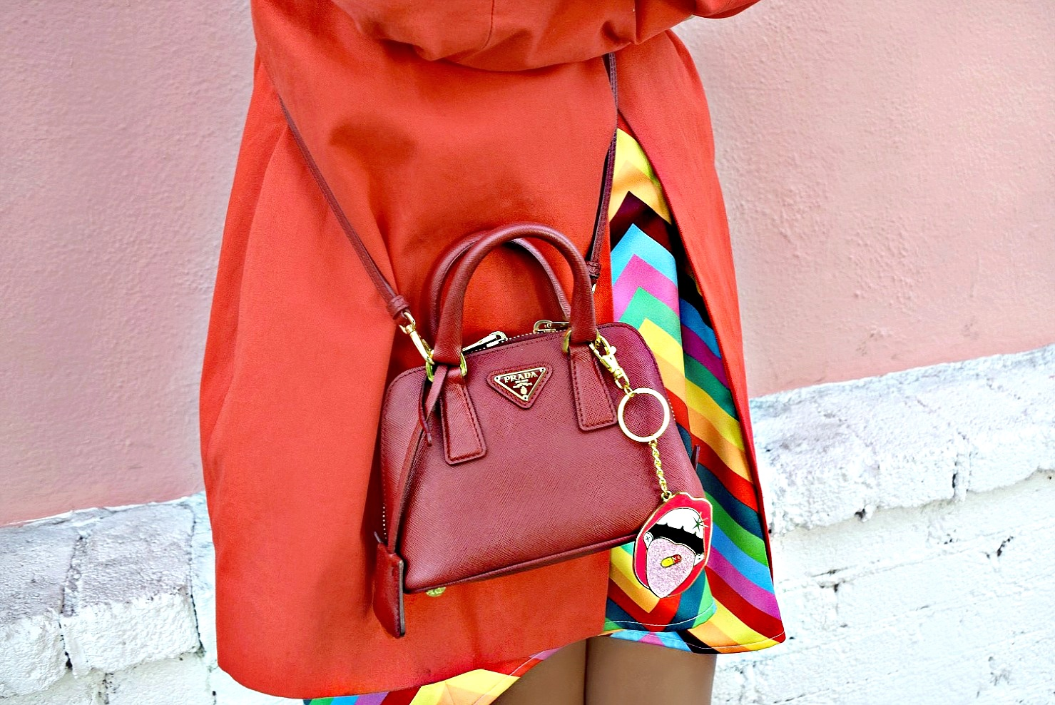 Red Prada Mini Bag/Poppy Lissiman Charm/Outfit Details: To Style, With Love