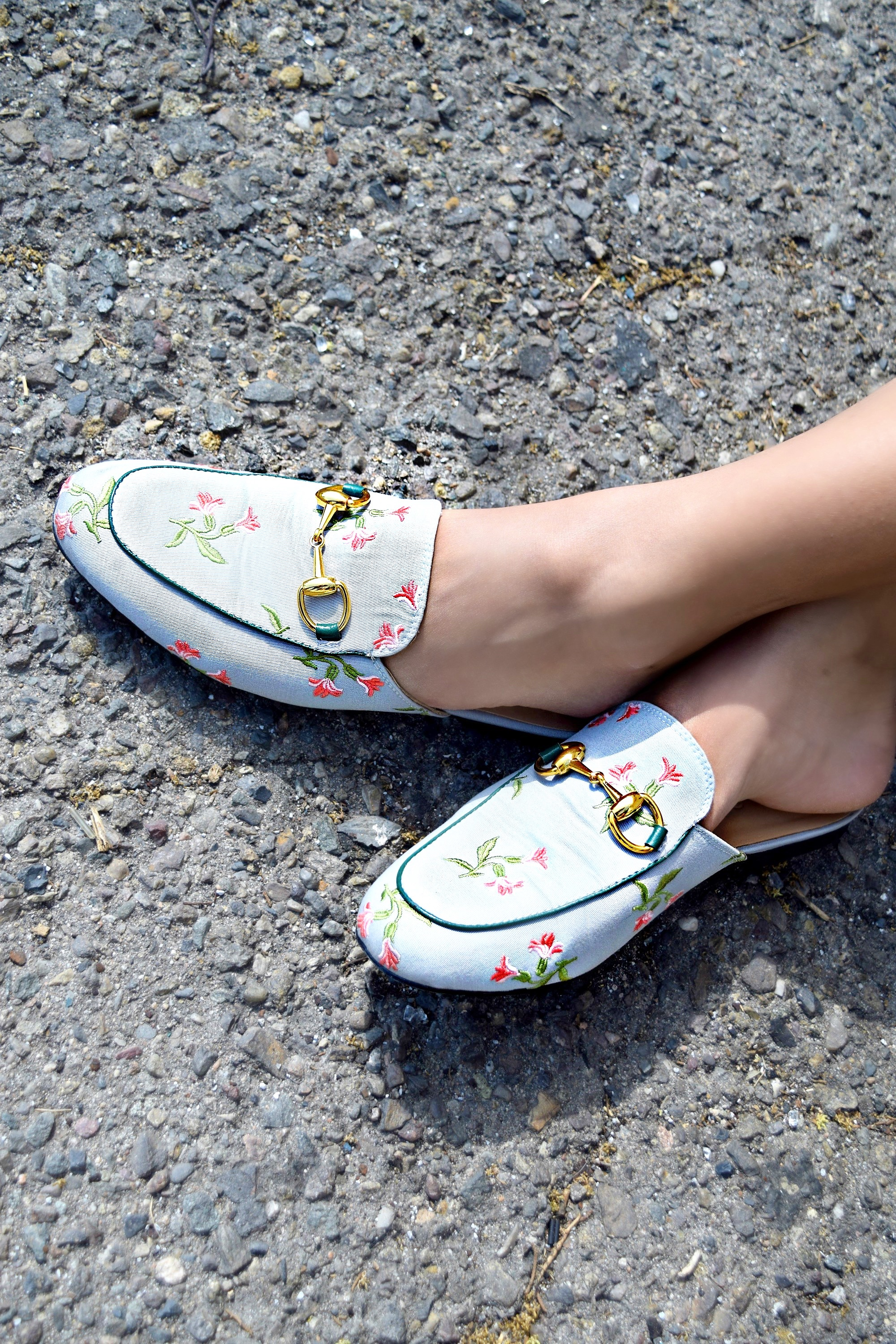 Gucci Floral Embroidered Slides, Spring/Summer Street Style: To Style, With Love