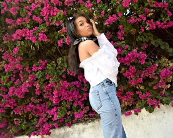 Mom Jeans and Off The Shoulder Blouse, Los Angeles Spring Street Style: To Style, With Love