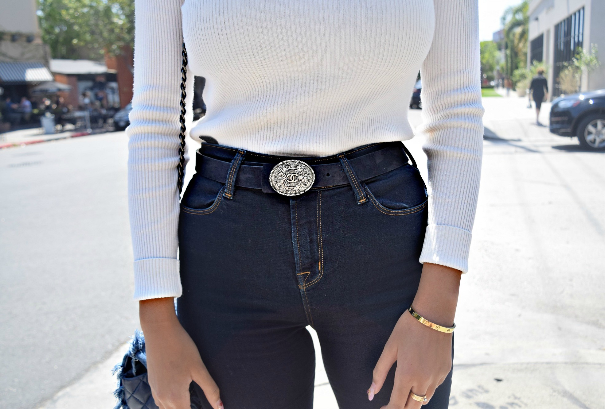 Chanel Western Belt Details Shot, Los Angeles Spring/Summer Street Style: To Style, With Love