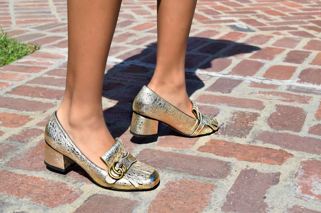 Gucci Gold Loafers, Spring Street Style: To Style, With Love By Daphne Blunt