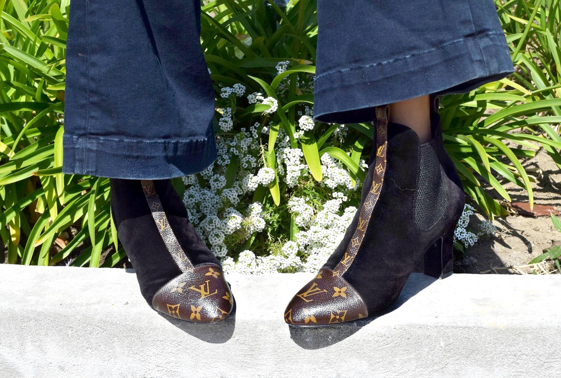 Louis Vuitton Monogram Booties, Los Angeles Spring/Summer Street Style: To Style, With Love