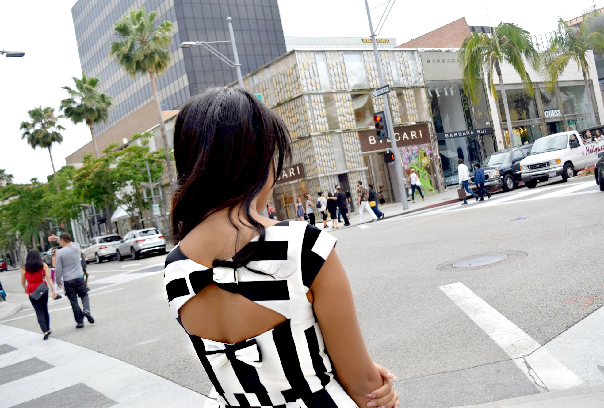 Kate Spade Striped Color Block Open Back Dress, Los Angeles Spring/Summer Street Style: To Style, With Love