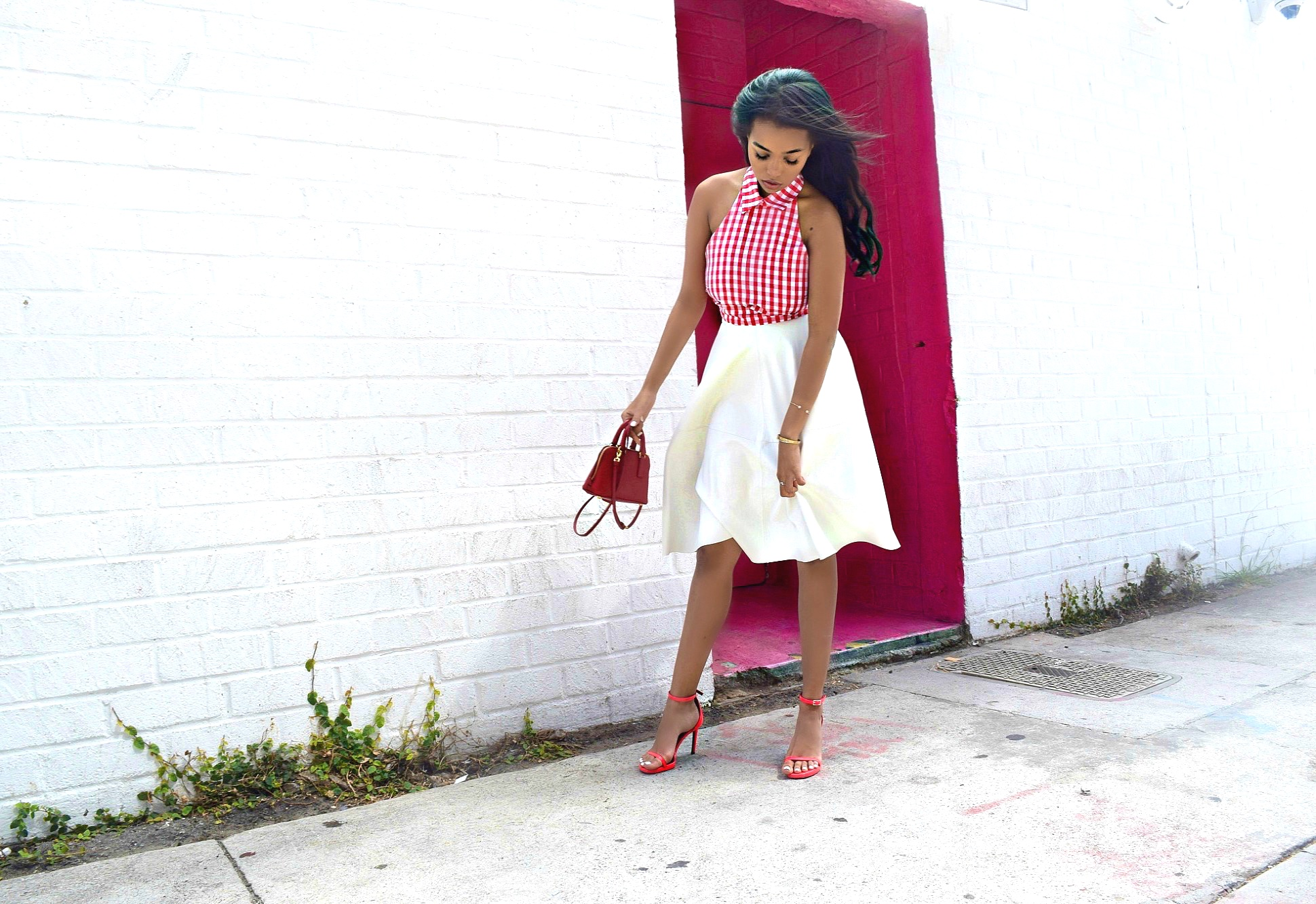 Think Pink.. Gingham, Los Angeles Spring/Summer Street Style: To Style, With Love