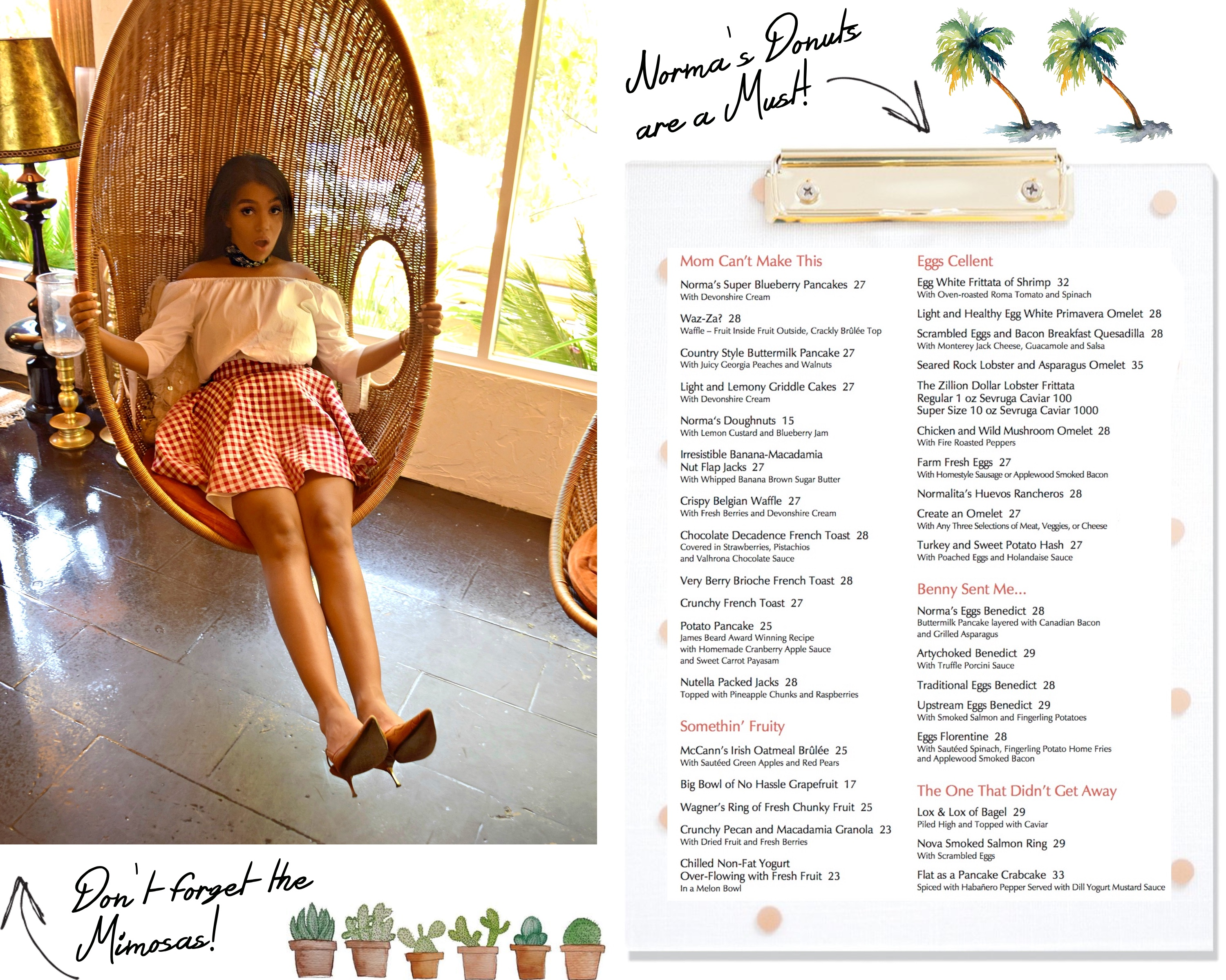 Palm Springs City Guide, The Parker Hotel Palm Springs, Norma's Restaurant: To Style, With Love