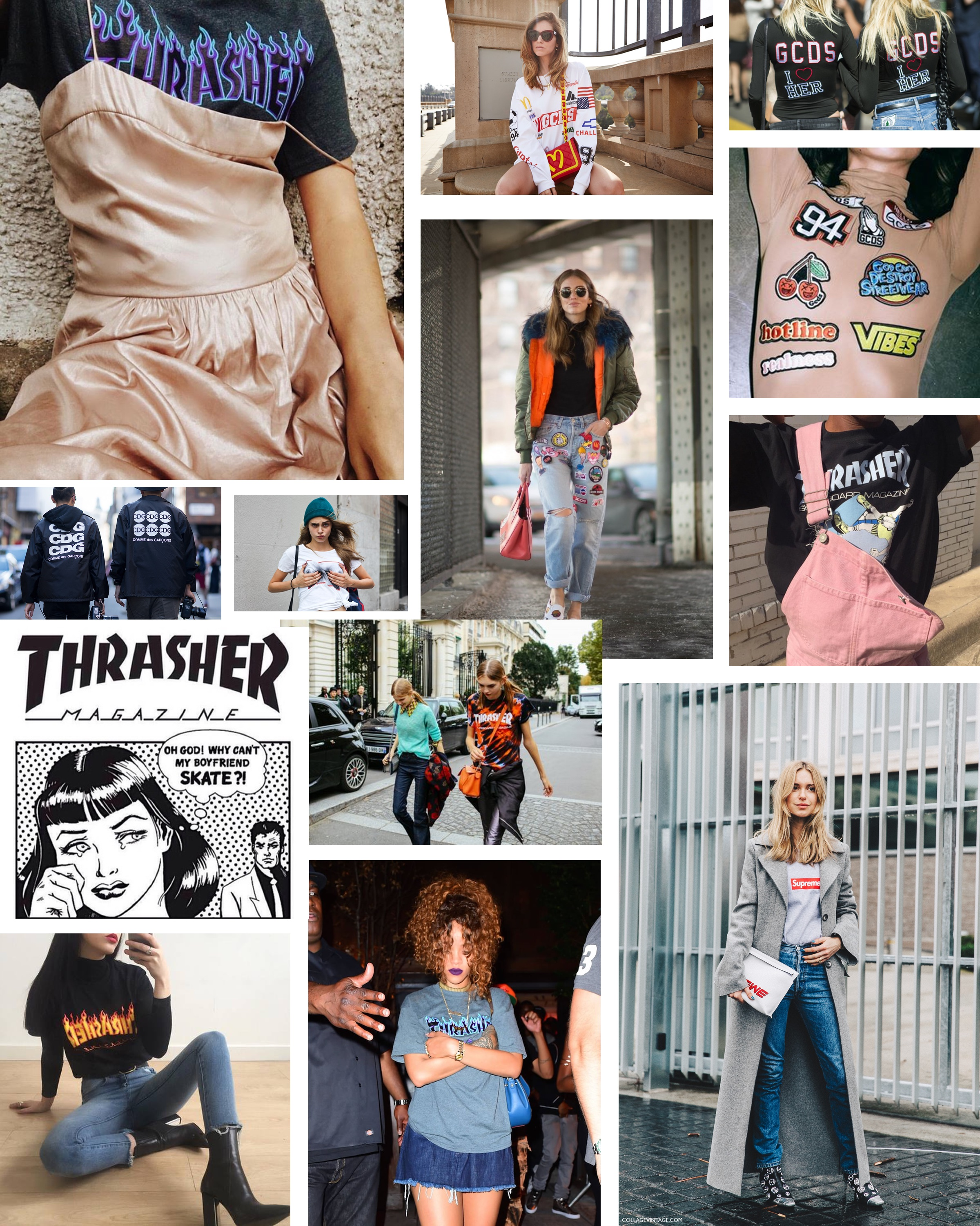 The Skate Trend, Thrasher Magazine Tshirts: To Style, With Love