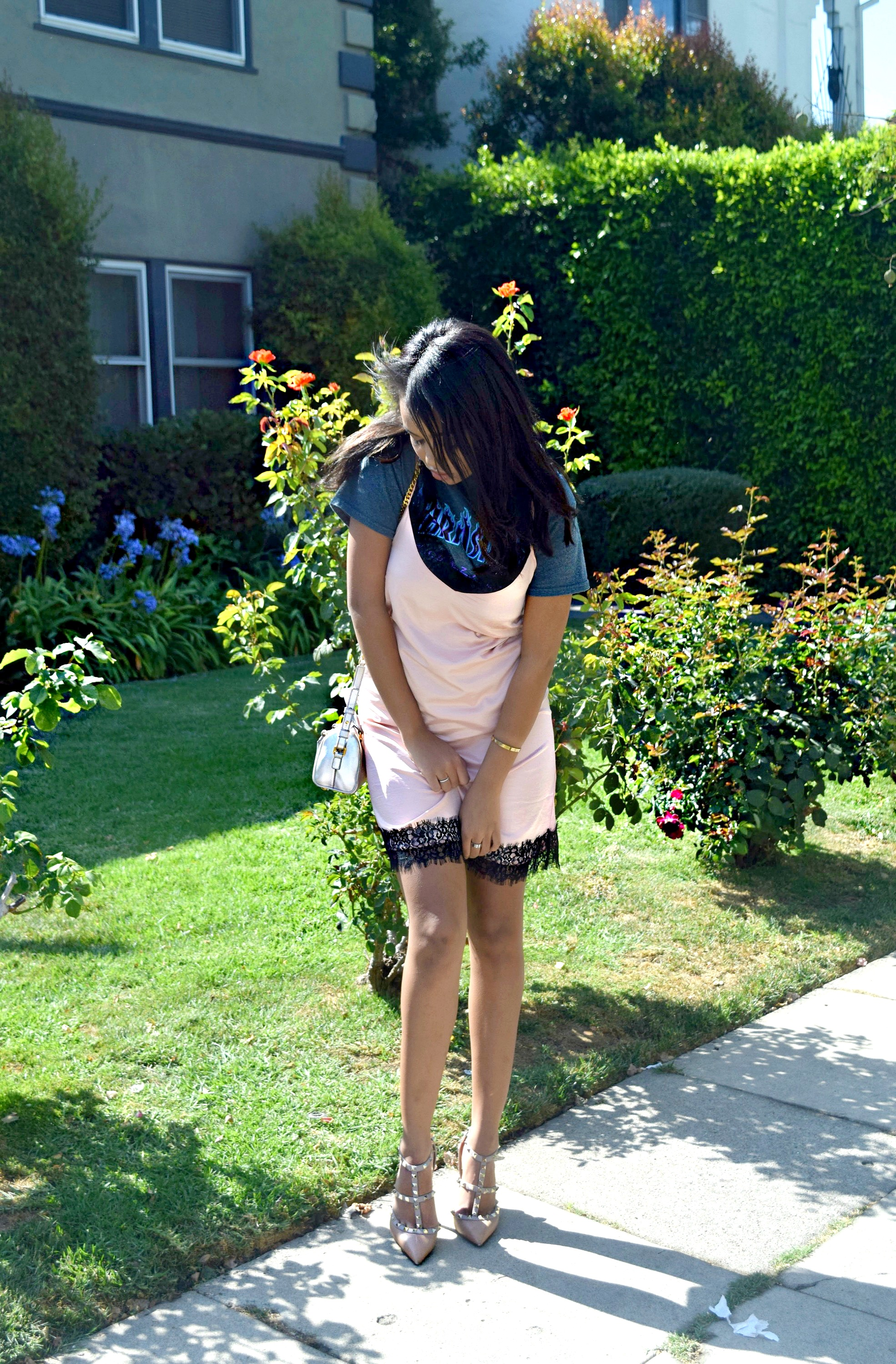 Thrasher Tshirt + Slip Dress // Los Angeles Blogger // Summer Street Style: To Style, With Love