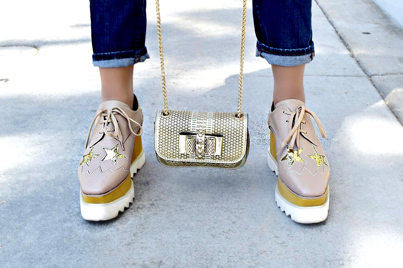 Stella McCartney Star Platforms & Christian Louboutin bag, Outfit Details: To Style, With Love