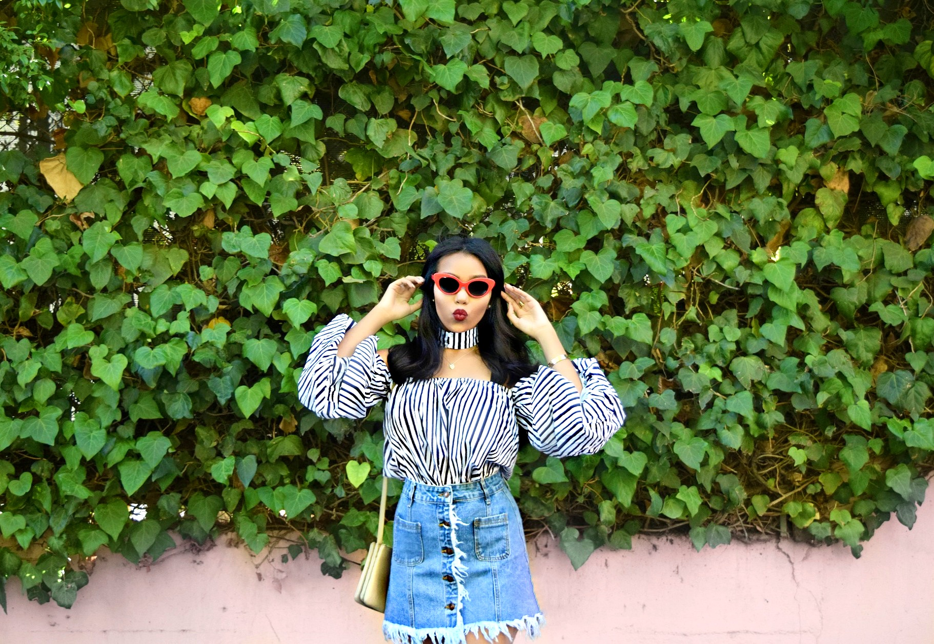 La Vie En Rose // Los Angeles Summer Street Style Fashion Blogger // Storets Top & Skirt // HereNow Sneakers // Crap Eyewear // Celine Bag: To Style, With Love
