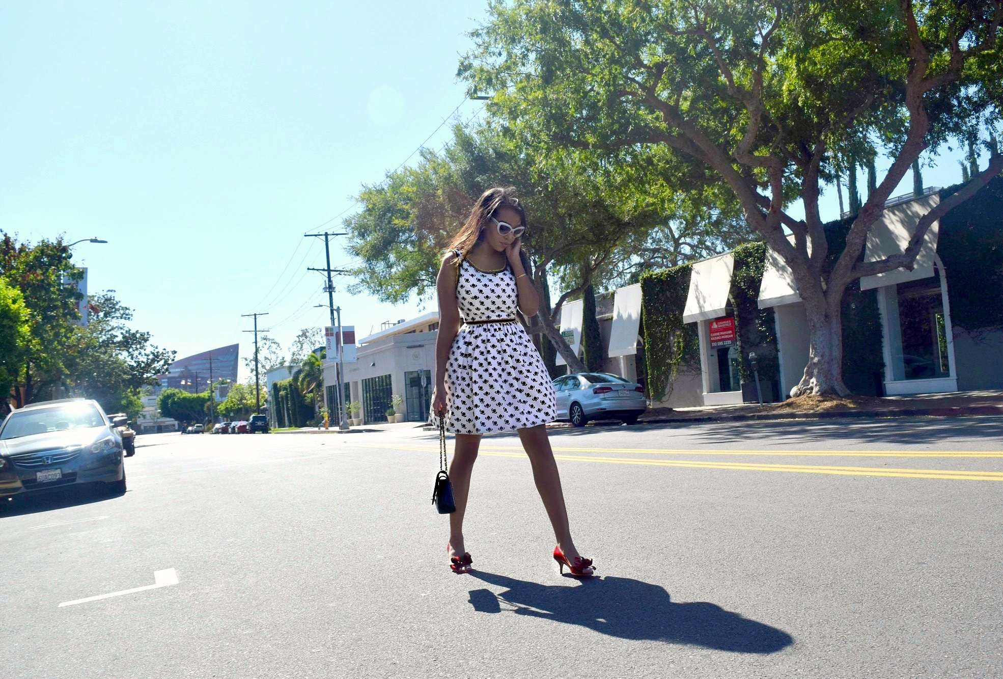 Fit and Flare Miu Miu dress, Los Angeles Spring/Summer Street Style & Fashion: To Style, With Love