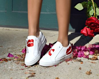 Here/Now Scarlett Lips Sneakers: To Style, With Love