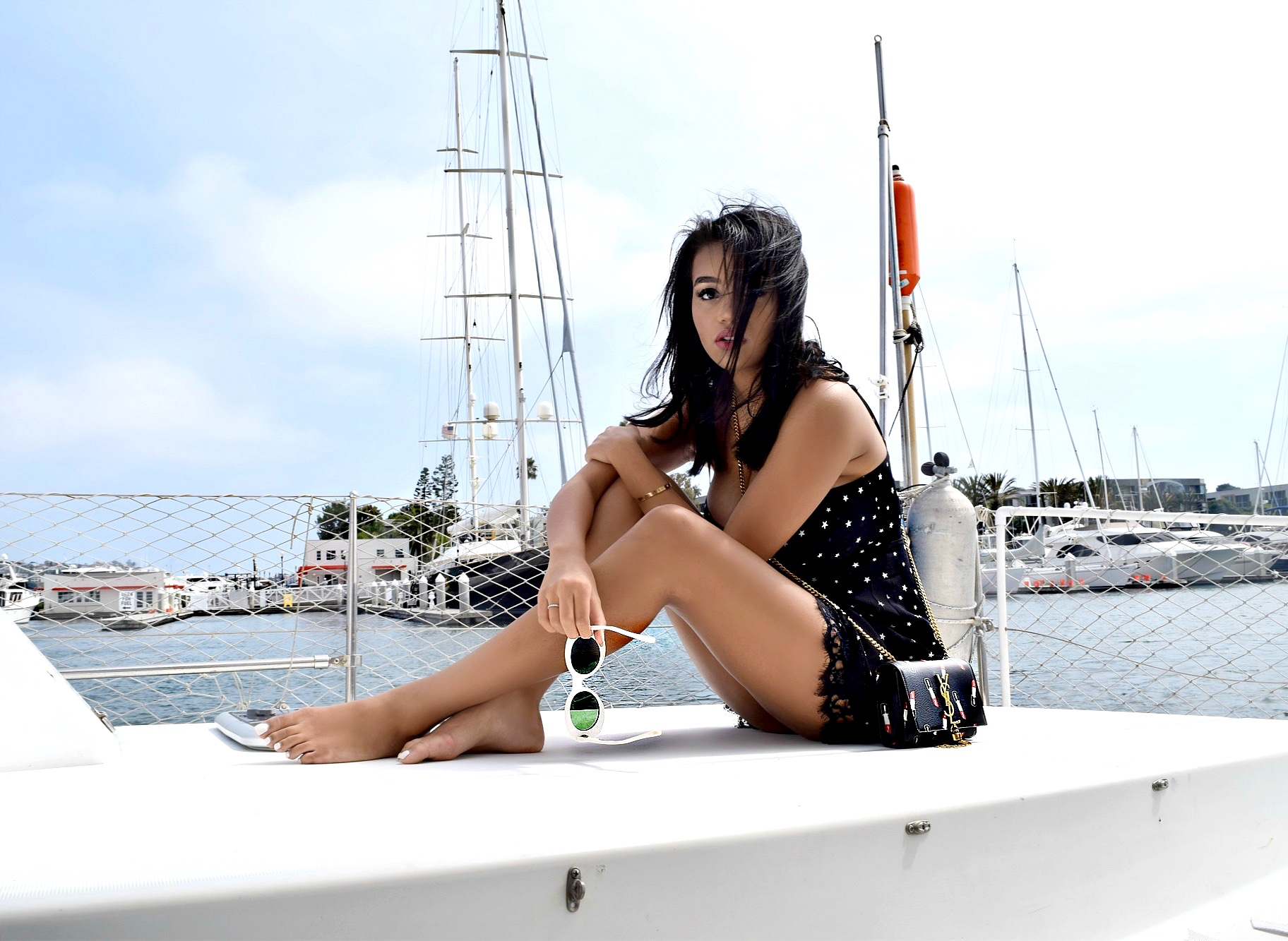 I'm On A Boat, Los Angeles Marina Del Rey Harbor Summer Sailing Fashion: To Style, With Love