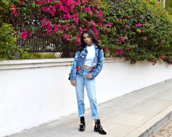 Denim on Denim // Boyfriend Jeans // Balenciaga Boots // Chanel Flap Bag // Los Angeles Summer Street Style // Fashion Blogger Daphne Blunt: To Style, With Love
