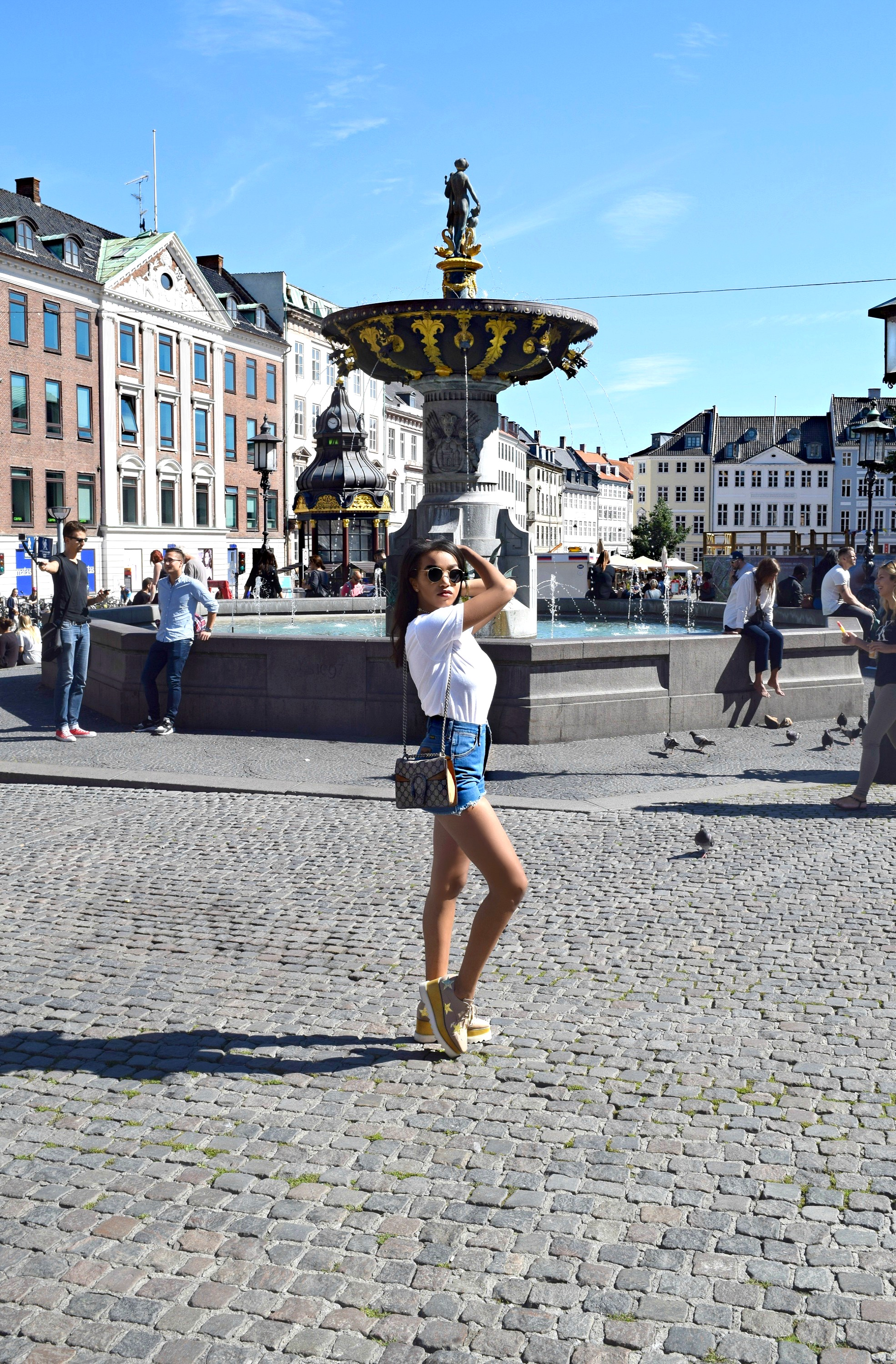 The End Of Summer In The City // Copenhagen, Denmark Travel Guide // Zara Blazer // Stella McCartney Platforms // Gucci Dionysus Bag // Saint Laurent Tshirt // Los Angeles Fashion Blogger Daphne Blunt: To Style, With Love