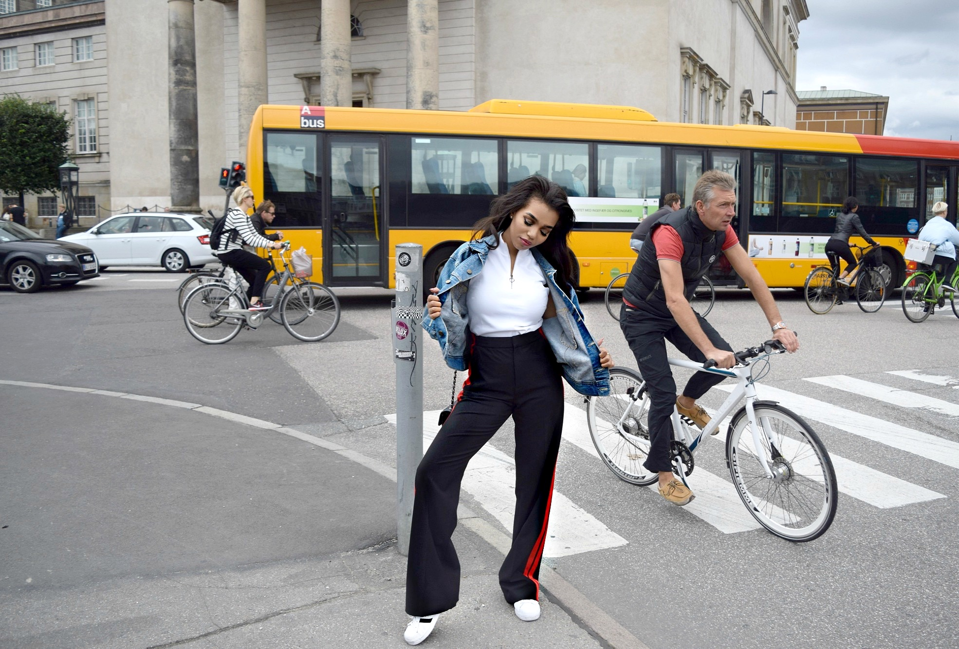 Copenhagen Denmark Travel Diary// Zara Side Stripped Jogger Trousers // Chanel Flap Bag Mini // Adidas Originals // Los Angeles Fashion Blogger Daphne Blunt: To Style, With Love