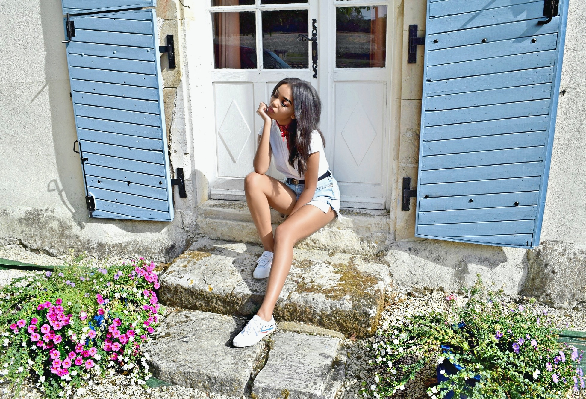 Somewhere In France // Empure, Ruffec, The Charente France // Re-Done Denim Cutoff Shorts // Are You Am I Crop Tshirt // Feiyue Sneakers // Chanel Western Belt // France Travel Diary // Los Angeles Fashion Blogger Daphne Blunt: To Style, With Love