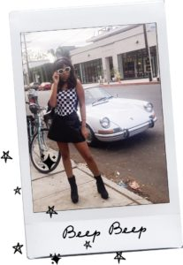 You Better Go Go Girl // Vintage Fendi Checkered Top // Alice + Olivia Leather Skirt // Public Desire Platform Booties // Gucci Hearts Backpack // Acne Studios Mustang Shades // Mod + Retro Trends and Inspiration // Los Angeles Fashion Blogger Daphne Blunt: To Style, With Love