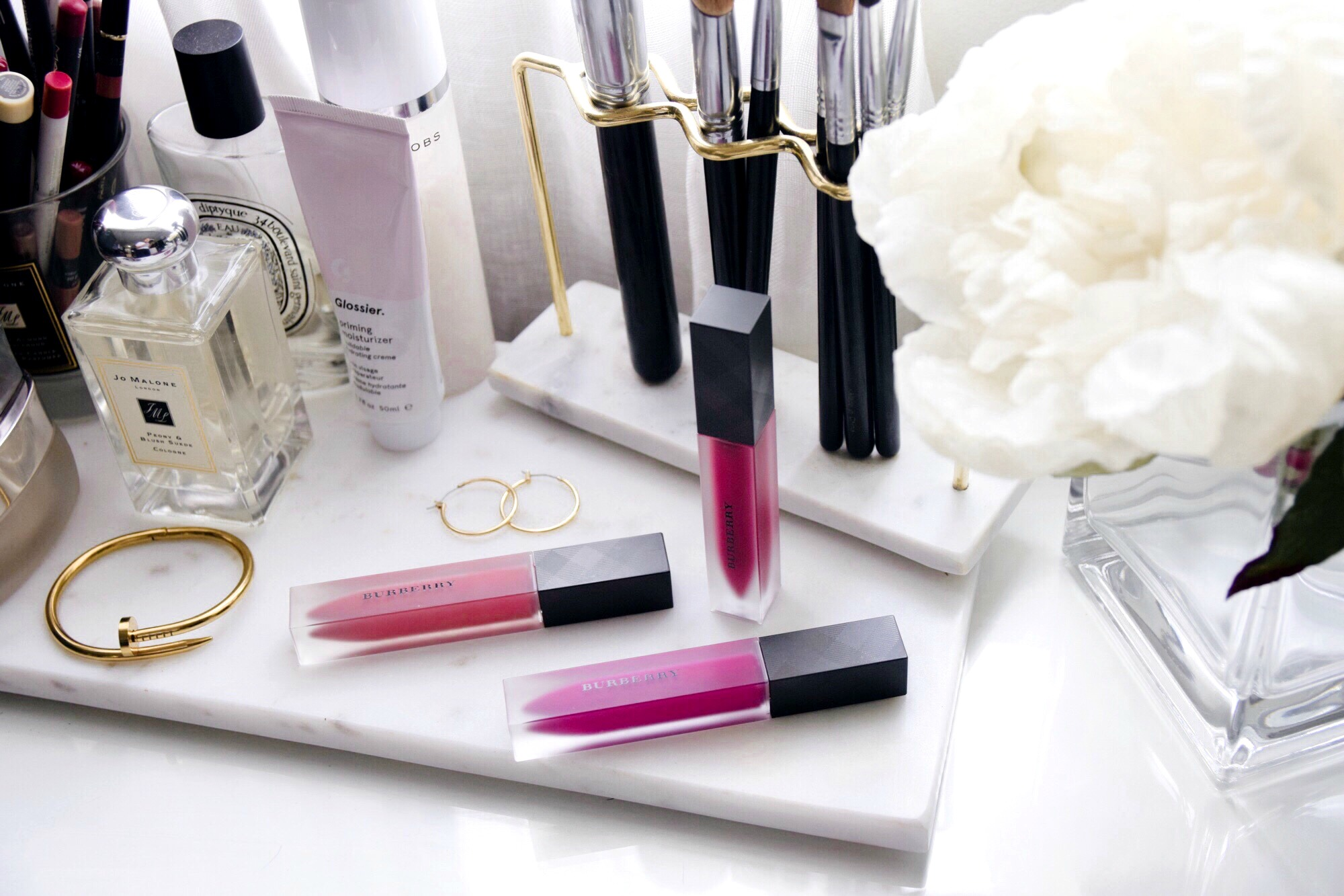 On My Vanity | Burberry Liquid Lip Velvet // Beauty Products Favorites // Makeup Reviews // Burberry Colors Fawn, Oxblood & Plum // Los Angeles Fashion Blogger Daphne Blunt: To Style, With Love