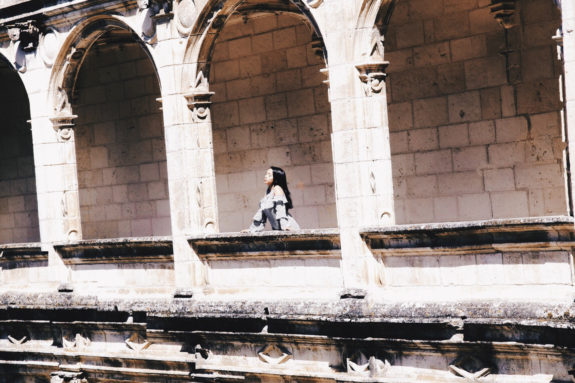 Castle On A Cloud // Missguided Gingham Cut Out Dress // JCrew Trench Coat // Gucci Gold Loafers // Chanel Black QUilted Flap Bag // Château de La Rochefoucauld France // French Travel Diary // Los Angeles Fashion Blogger Daphne Blunt: To Style, With Love